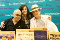 Artistas Plásticos Gustavo Rosa, Antonio Peticov, Fotógrafa Rosângela Fialho (Foto: Leandro Blotta)