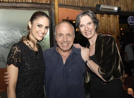 Jornalista e apresentadora Chris Flores, Artista Plástico Guastavo Rosa e a idealizadora do projeto Dra. Vera Cardim.
