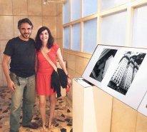 Artista Plástico Duda Rosa e a Fotógrafa Rosângela Fialho. Fotos ao lado de Rosângela Fialho