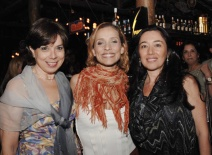 Organizdora do projeto Darci Maria Brignani, Atriz Gabriela Alves, Pricila Atienza (consultora Jurídica).