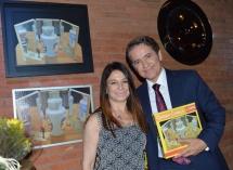 Artista Plástica Sônia Menna Barreto e o Jornalista Carlos Tramontina