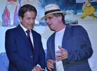 Jornalista Carlos Tramontina e o Artista Plástico Antonio Peticov