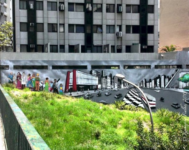 Grafite - Viaduto Paraíso, São Paulo, Brasil